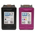 Jual Beli Tinta Toner Cartridge HP 60 Black and Color komplit Dus
